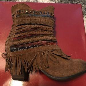 Naughty Monkey  Leather Poncho Boot Size 6